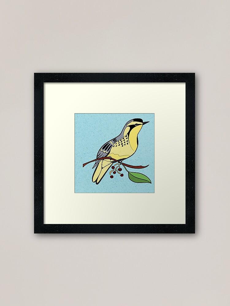 Alternate view of Yellow Bird Yellow-Throated Warbler Songbird 4 of 9 Framed Art Print
