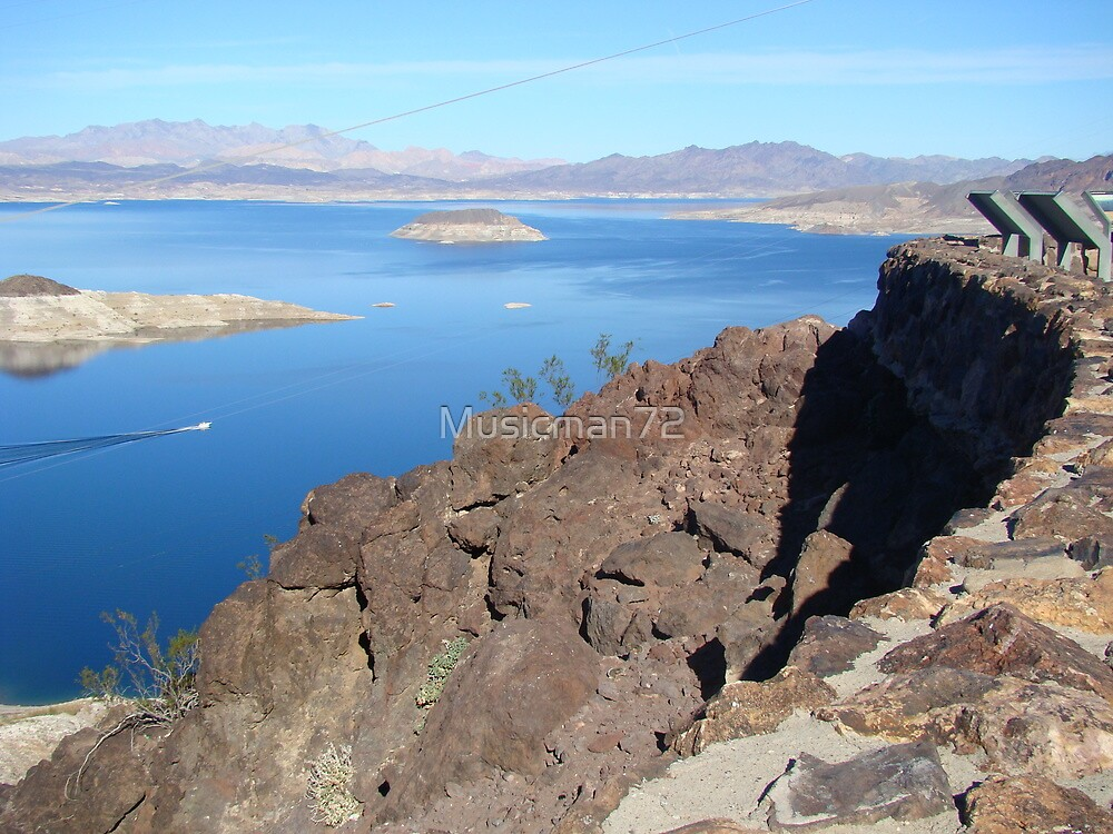 Looking over Lake Mead by Musicman72