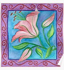 FLOWERTIME 2 - AQUAREL AND COLOR PENCILS Poster