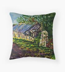 Farmstead on the Ballytober Road, County Antrim Throw Pillow