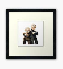 Statler and Waldorf Framed Print