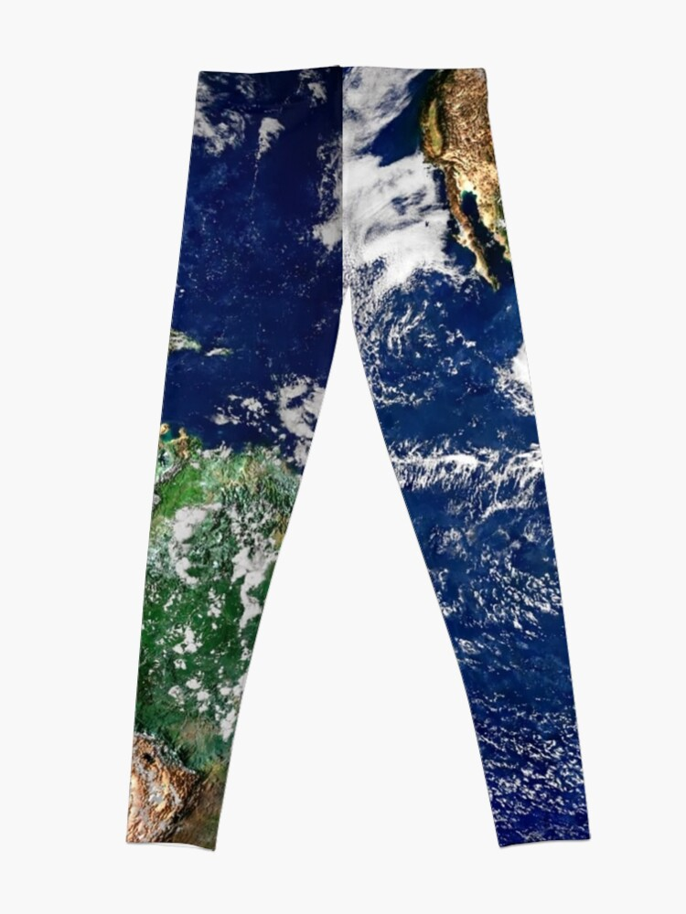 Alternate view of Earth from Space Leggings