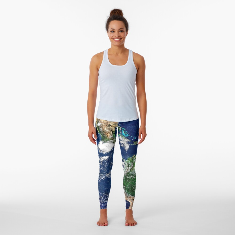Earth from Space Leggings