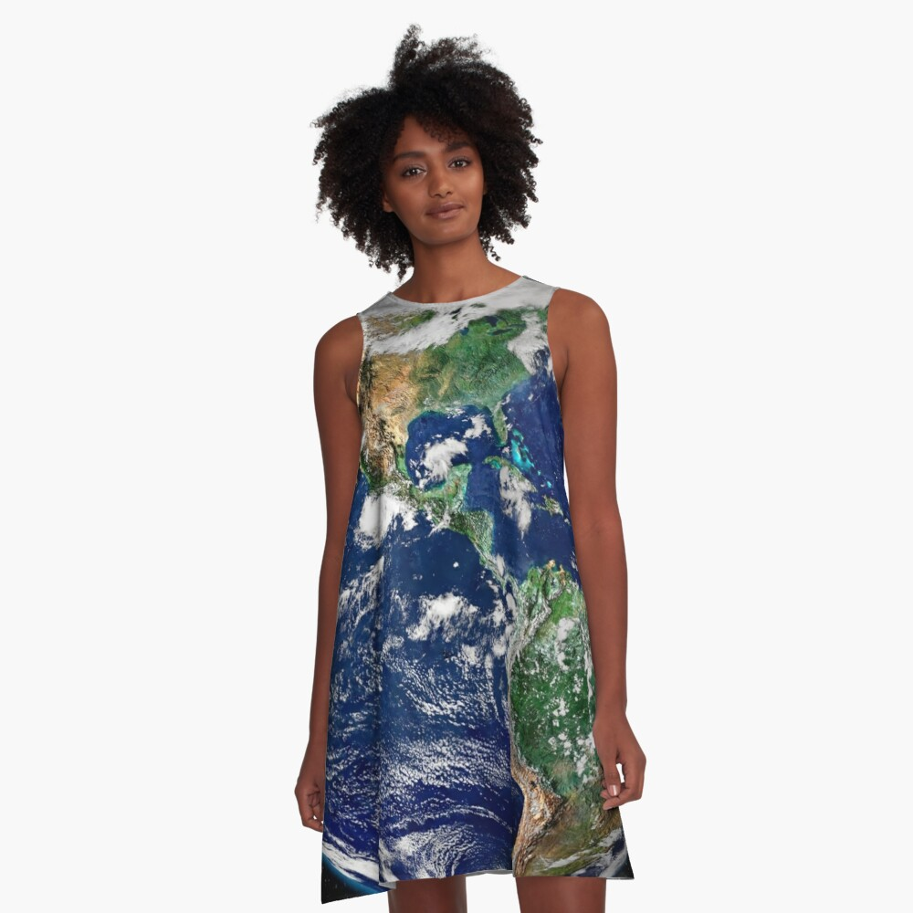 Earth from Space A-Line Dress