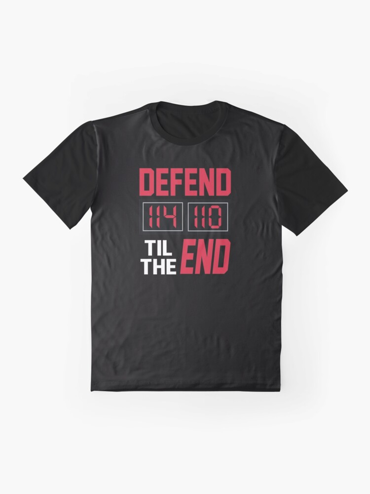 Alternate view of 'Defend Til The End' (Black) Graphic T-Shirt