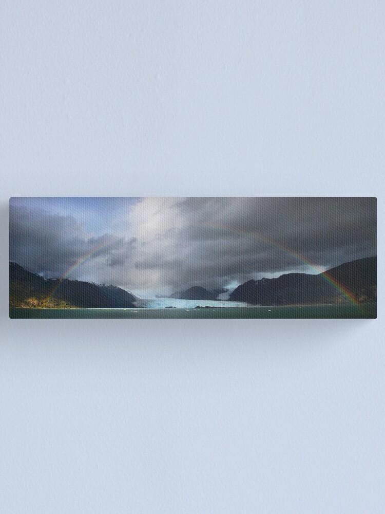Alternate view of Rainbow over Amalia glacier  Canvas Print