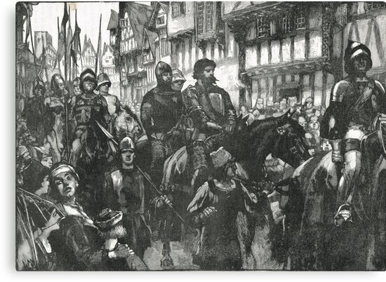 William Wallace Bound on way to Westminster Hall 1305 by artfromthepast