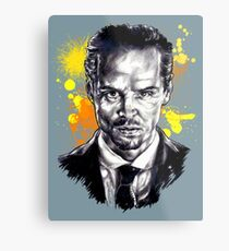 Jim Moriarty + paint Metal Print