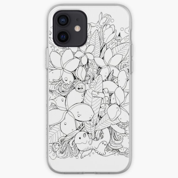 Flower and Monsters - Frangipani iPhone Soft Case