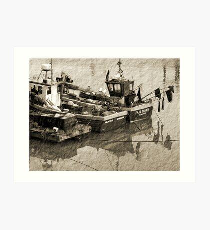 Old Moorings Art Print