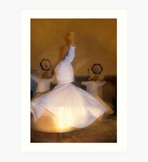 Whirling Dervishes in Cappadocia Art Print