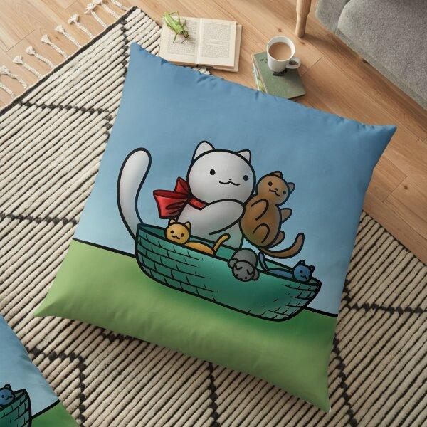 Chemistry Cat & Separating Kittens Floor Pillow