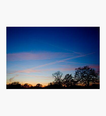 Beautiful Cheshire Sunset Photographic Print