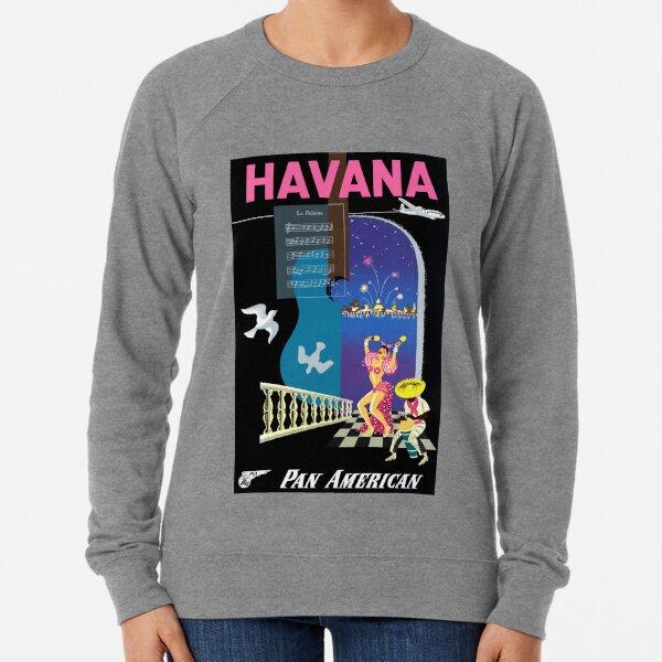 1948 Havana Pan American Airlines Cuba Travel Poster Lightweight Sweatshirt