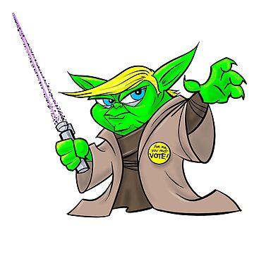Yoda/Trump by jamesthomasart