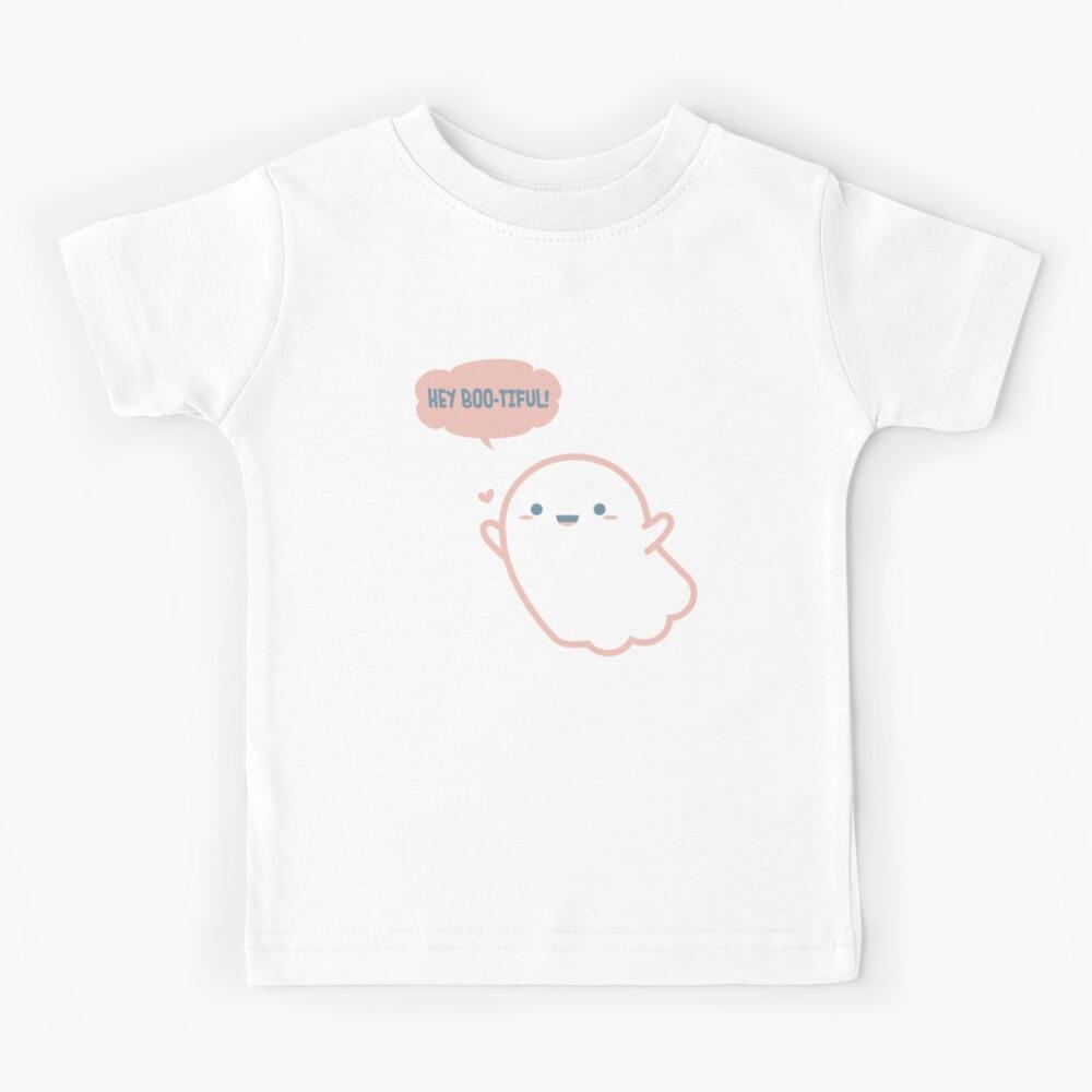 Boo I Kinder Jungen T-Shirt Fun Ghost Spirit Nerd Geek Halloween Geist Gespenst