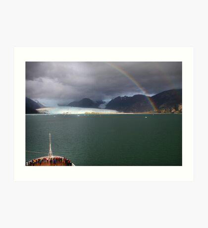 Rainbow over Amalia glacier II Art Print