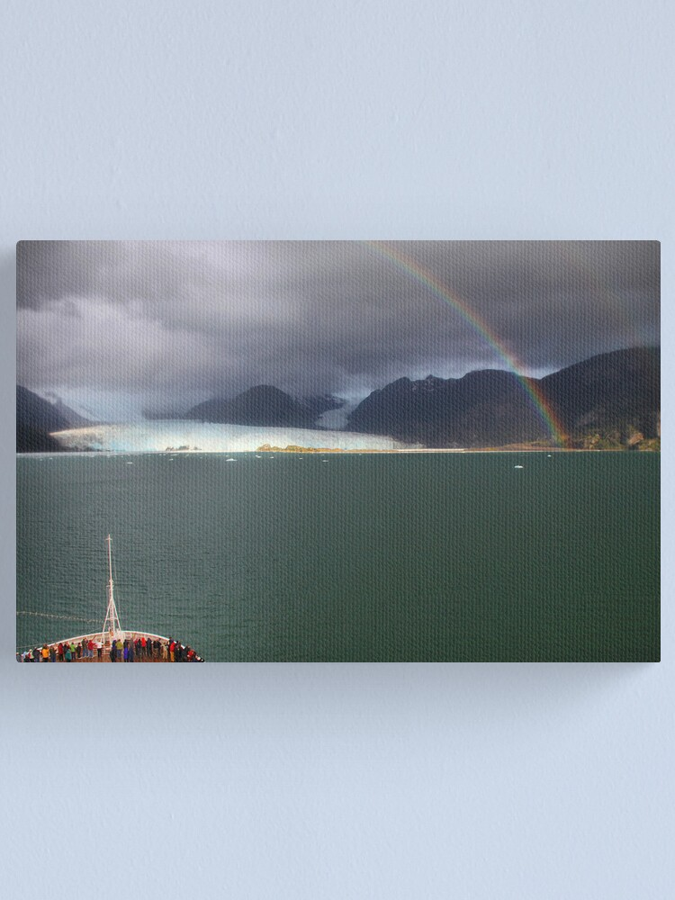 Alternate view of Rainbow over Amalia glacier II Canvas Print