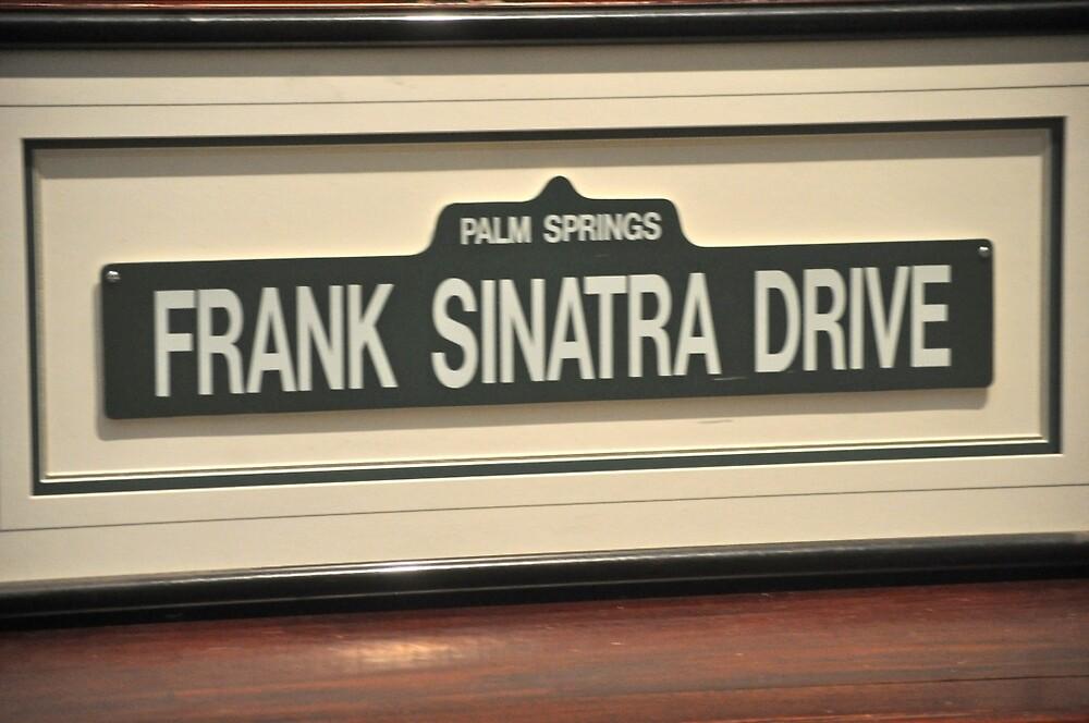 FRAMED STREET SIGN FRANK SINATRA DRIVE PALM SPRINGS by JAYMILO
