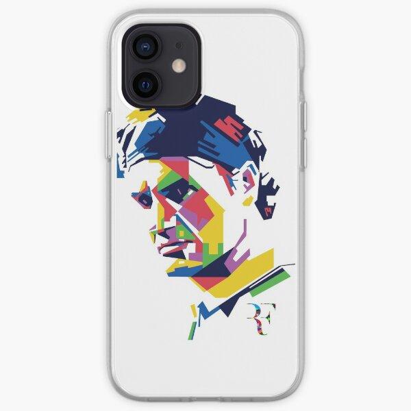 Roger Federer art iPhone Soft Case