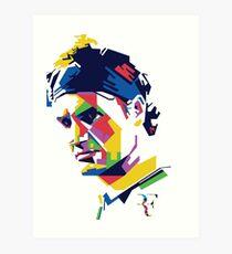 Roger Federer art Art Print