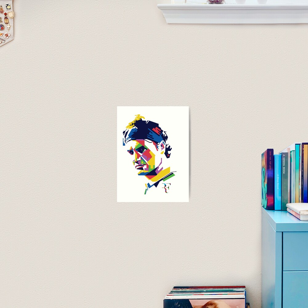 Roger Federer Kunst Kunstdruck