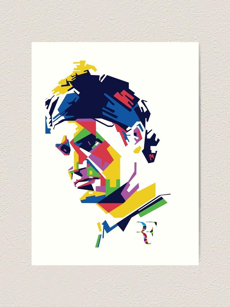 Alternative Ansicht von Roger Federer Kunst Kunstdruck