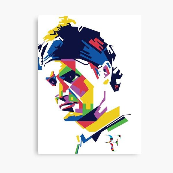 Roger Federer art Canvas Print
