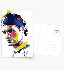 Roger Federer art Postcards