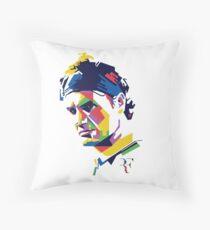 Roger Federer art Throw Pillow