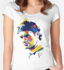 Camiseta entallada de cuello ancho Arte de Roger Federer