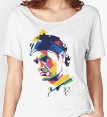 Roger Federer art Women's Relaxed Fit T-Shirt