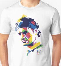 Roger Federer Kunst Slim Fit T-Shirt