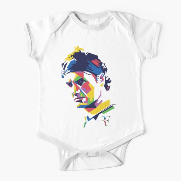 Roger Federer art Short Sleeve Baby One-Piece