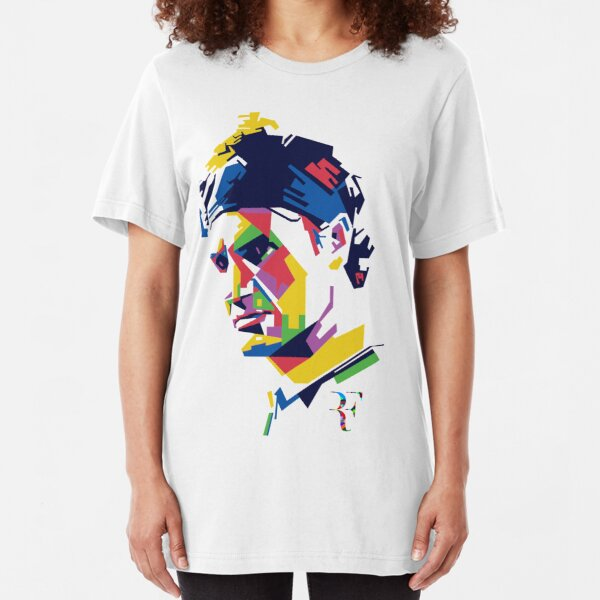 Roger Federer art Slim Fit T-Shirt
