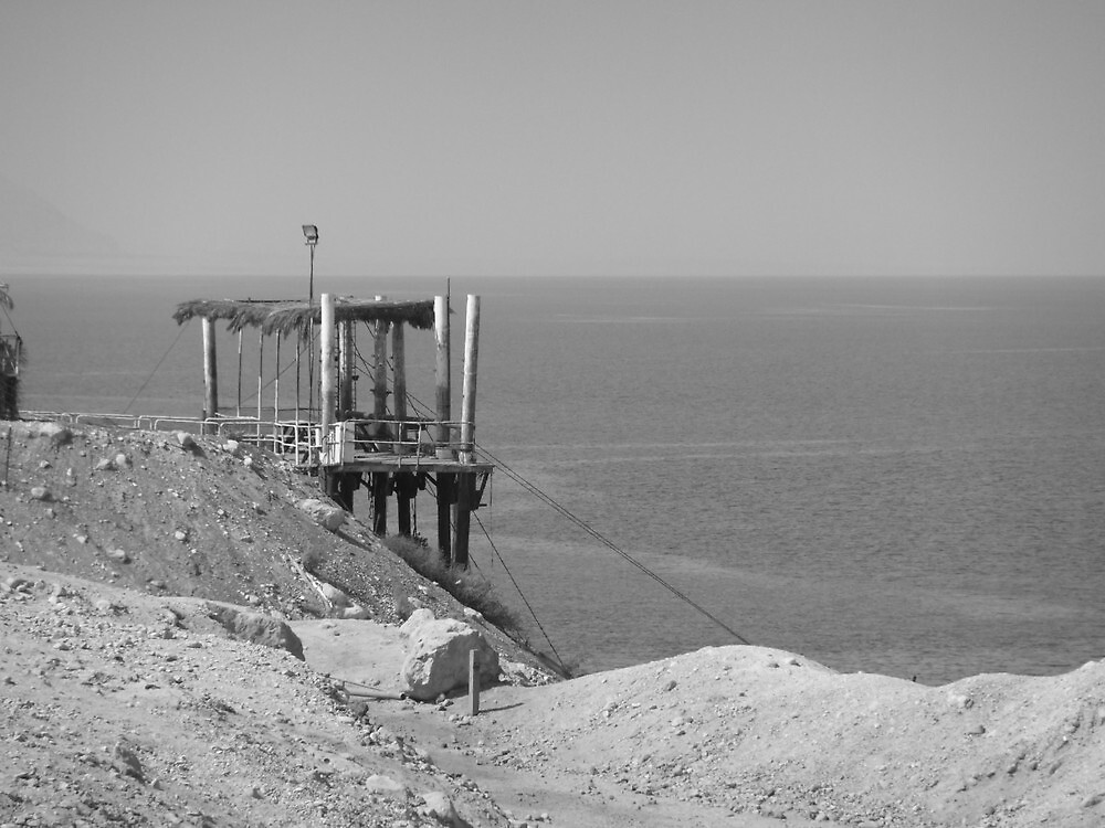Dock and Dead Sea by Adam Isaacson