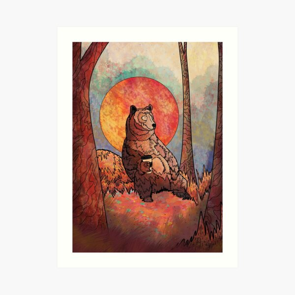 The relaxing bear Art Print