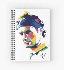 Roger Federer art Spiral Notebook