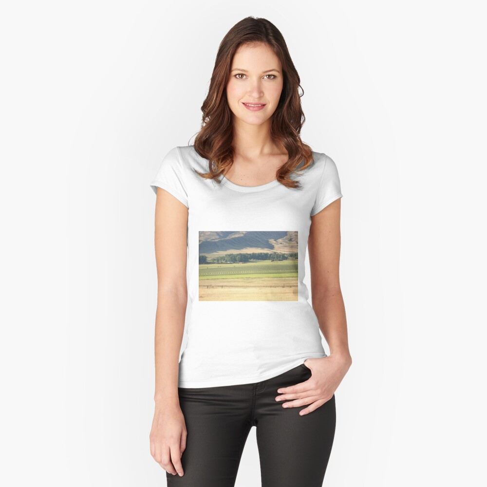 Alfalfa Field in Montana Women's Fitted Scoop T-Shirt Front