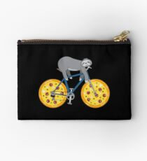 Pizza Mountainbiking Sloth - Funny Fastfood And Sloth Cycling Team Täschchen