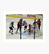 Washington Capitals vs. Florida Panthers: First Goal by Caps Art Print