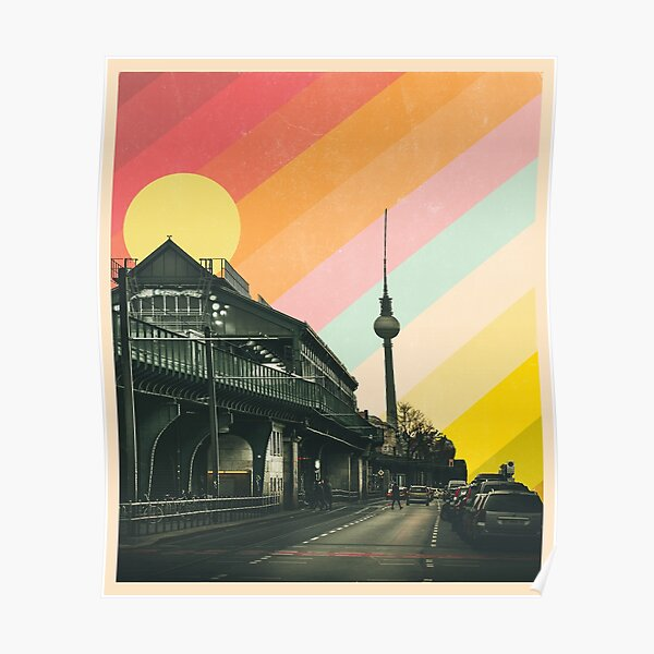 Vintage Berlin Cityscape Poster