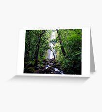 Manoa Valley Falls  Greeting Card