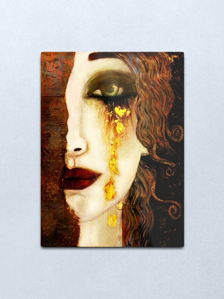 Alternate view of Golden Tears Freya's Tears of Gold Anne Marie Zimmerman (School of Klimt) Metal Print