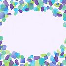 Blank greeting card - purple and green by Lingthusiasm