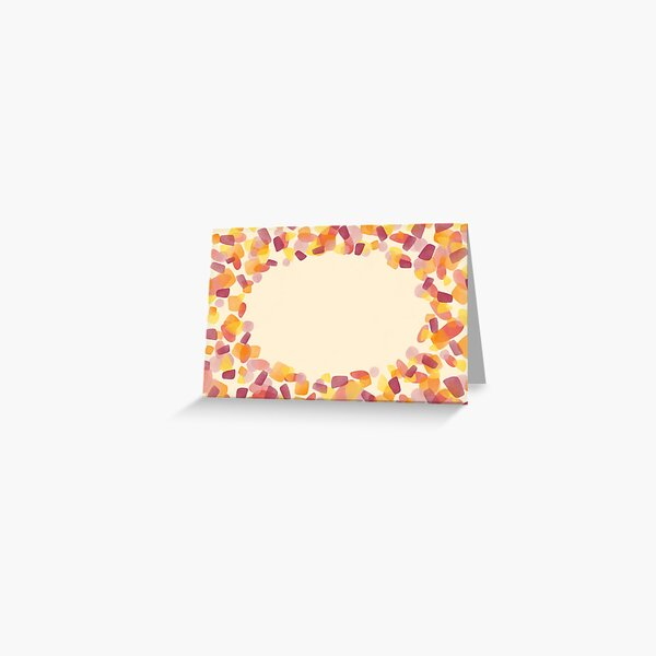 Blank greeting card - yellow and red Greeting Card
