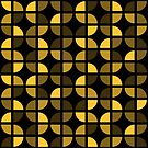 Geometric Pattern: Quarter Circle: Dark/Yellow by * Red Wolf