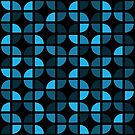 Geometric Pattern: Quarter Circle: Dark/Blue by * Red Wolf
