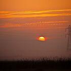 Foggy Sunset by Howard Lorenz