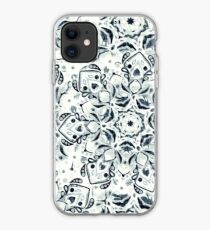 Stained Glass Mandala - Navy & White  iPhone Case